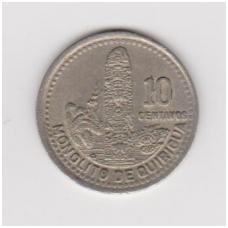 GVATEMALA 10 CENTAVOS 1994 KM # 277.6 VF