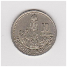 GVATEMALA 10 CENTAVOS 1995 KM # 277.6 VF
