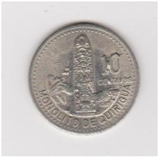 GVATEMALA 10 CENTAVOS 1995 KM # 277.6 XF