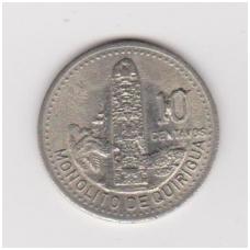 GVATEMALA 10 CENTAVOS 1996 KM # 277.6 XF
