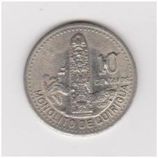 GVATEMALA 10 CENTAVOS 1997 KM # 277.6 XF