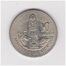 GVATEMALA 10 CENTAVOS 1998 KM # 277.6 XF