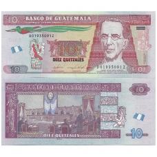 GVATEMALA 10 QUETZALES 2016 P # new UNC