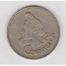 GVATEMALA 25 CENTAVOS 1997 KM # 278.6 VF