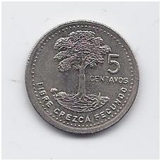GVATEMALA 5 CENTAVOS 1987 KM # 276.4 XF