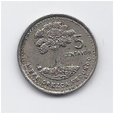 GVATEMALA 5 CENTAVOS 1990 KM # 276.4 VF