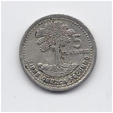 GVATEMALA 5 CENTAVOS 1994 KM # 276.4 VF