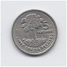 GVATEMALA 5 CENTAVOS 1994 KM # 276.4 XF