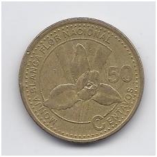 GVATEMALA 50 CENTAVOS 1998 KM # 283 VF