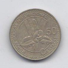 GVATEMALA 50 CENTAVOS 2007 KM # 283 VF