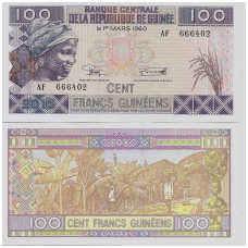 GVINĖJA 100 FRANCS 2015 P # NEW UNC