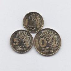 GVINĖJA 1985 m. 3 monetų rinkinys