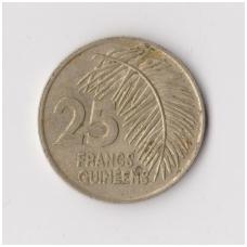 GUINEA 25 FRANCS 1987 KM # 60 VF