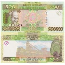 GVINĖJA 500 FRANCS 2012 P # 39 UNC