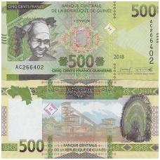 GVINĖJA 500 FRANCS 2018 P # 53 UNC
