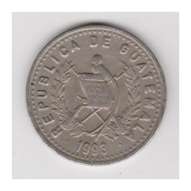 GVATEMALA 25 CENTAVOS 1993 KM # 278.5 VF 2