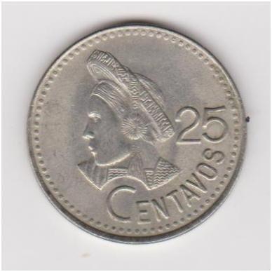 GVATEMALA 25 CENTAVOS 1995 KM # 278.5 XF