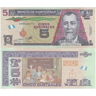 GVATEMALA 5 QUETZALES 2014  P # new UNC