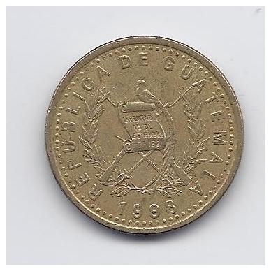GVATEMALA 50 CENTAVOS 1998 KM # 283 VF 2