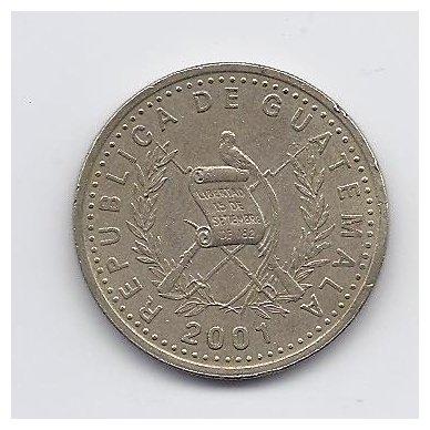 GVATEMALA 50 CENTAVOS 2001 KM # 283 VF 2