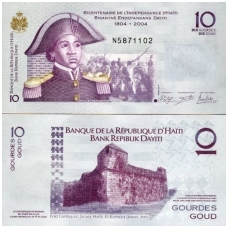 HAITIS 10 GOURDES 2014 P # 272f UNC