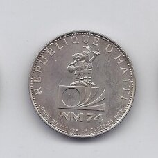HAITIS 25 GOURDES 1973 KM # 103 UNC Pasaulio Taurė
