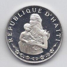 HAITIS 50 GOURDES 1973 KM # 105 PROOF Moteris ir vaikas