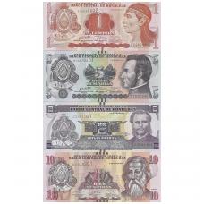 HONDŪRAS 1-2-5-10 LEMPIRAS 2014 - 2016 UNC ( 4 banknotai )