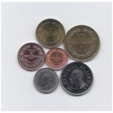 HONDŪRAS 1956 - 2010 m. 6 MONETŲ RINKINYS