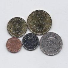 HONDŪRAS 1991 - 2010 m. 5 monetų rinkinukas