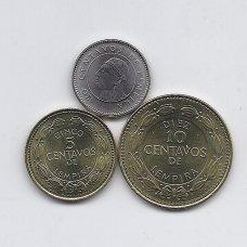 HONDŪRAS 2006 - 2007 m. 3 monetų rinkinukas
