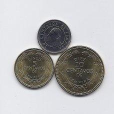 HONDŪRAS 2010 m. 3 monetų rinkinukas
