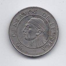 HONDŪRAS 50 CENTAVOS 1994 KM # 84a VF