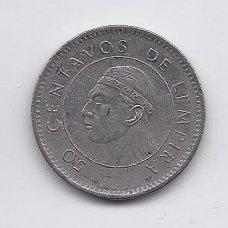 HONDŪRAS 50 CENTAVOS 1995 KM # 84a VF