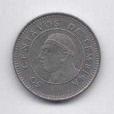 HONDŪRAS 50 CENTAVOS 1999 KM # 84a VF