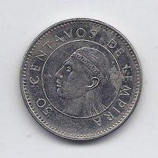 HONDŪRAS 50 CENTAVOS 2005 KM # 84a XF