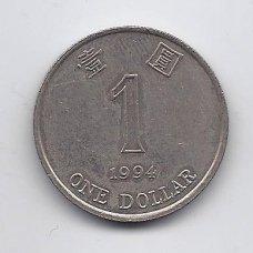 HONKONGAS 1 DOLLAR 1994 KM # 69a VF