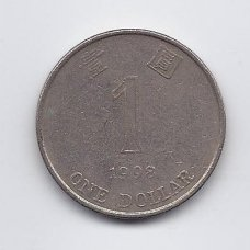 HONKONGAS 1 DOLLAR 1998 KM # 69a VF