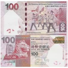 HONKONGAS 100 DOLLARS 2010 P # 214 UNC