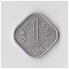 INDIJA 1 PAISA 1966 KM # 10 VF