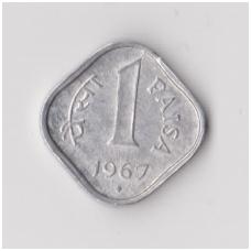 INDIJA 1 PAISA 1967 KM # 10 VF