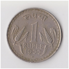 INDIJA 1 RUPEE 1977 KM # 78 VF