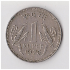 INDIJA 1 RUPEE 1978 KM # 78 VF
