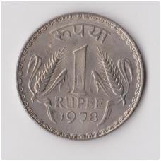 INDIJA 1 RUPEE 1978 KM # 78 XF