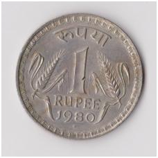 INDIJA 1 RUPEE 1980 KM # 78 VF