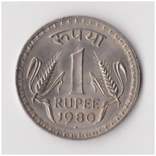 INDIJA 1 RUPEE 1980 KM # 78 XF