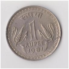 INDIJA 1 RUPEE 1981 KM # 78 VF