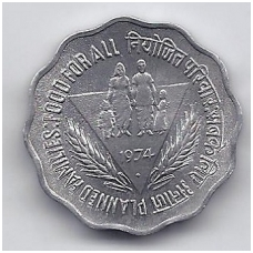 INDIJA 10 PAISE 1974 KM # 28 AU FAO