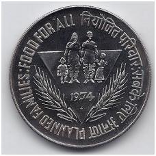 INDIJA 10 RUPEES 1974 KM # 189 UNC FAO