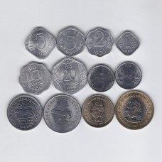 INDIJA 1967 - 2012 m. 12 monetų rinkinys